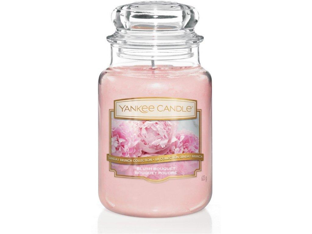 Svíčka Yankee Candle Blush Bouquet Rozkvetlé Pivoňky 623g velká