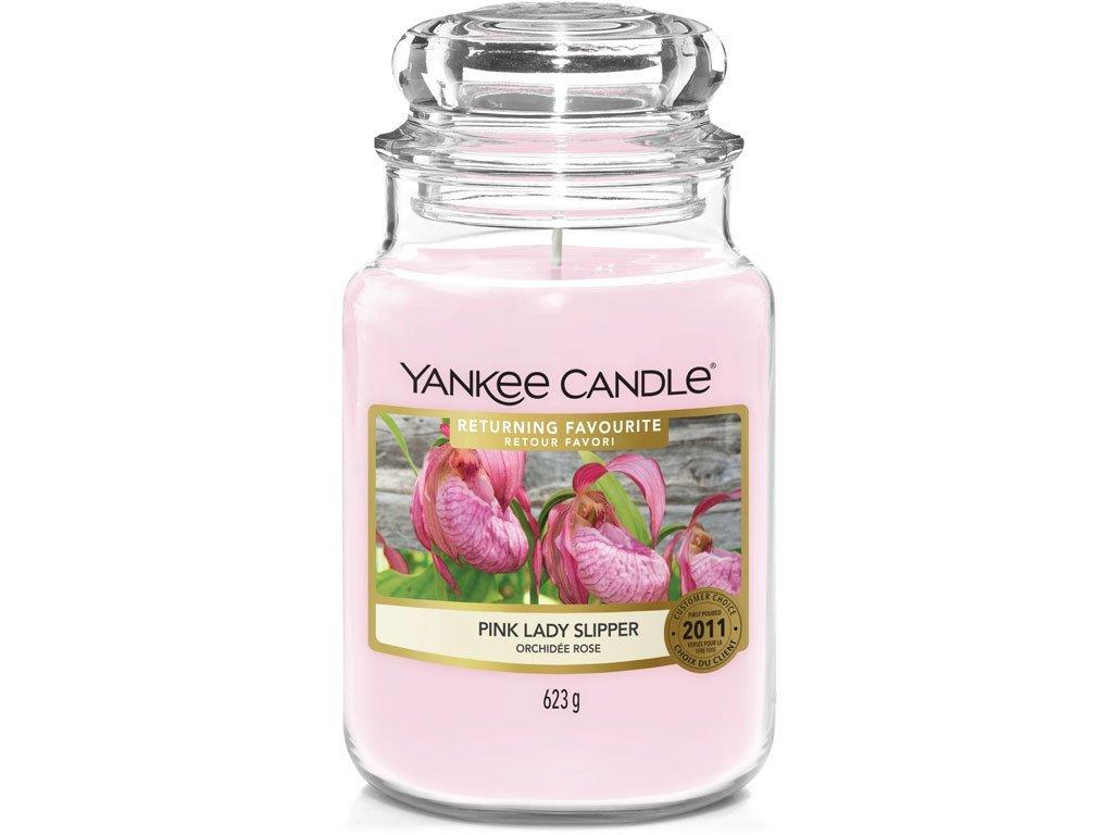 Svíčka Yankee Candle Pink Lady Slipper Růžový střevíček 623g velká