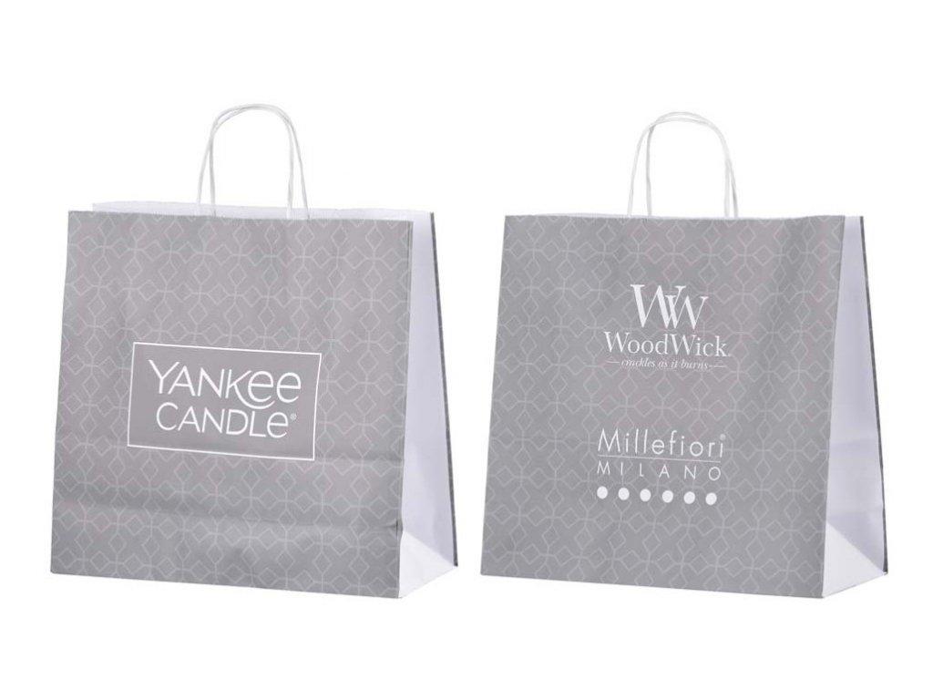 Papírová taška s krouceným uchem Yankee Candle   WoodWick střední
