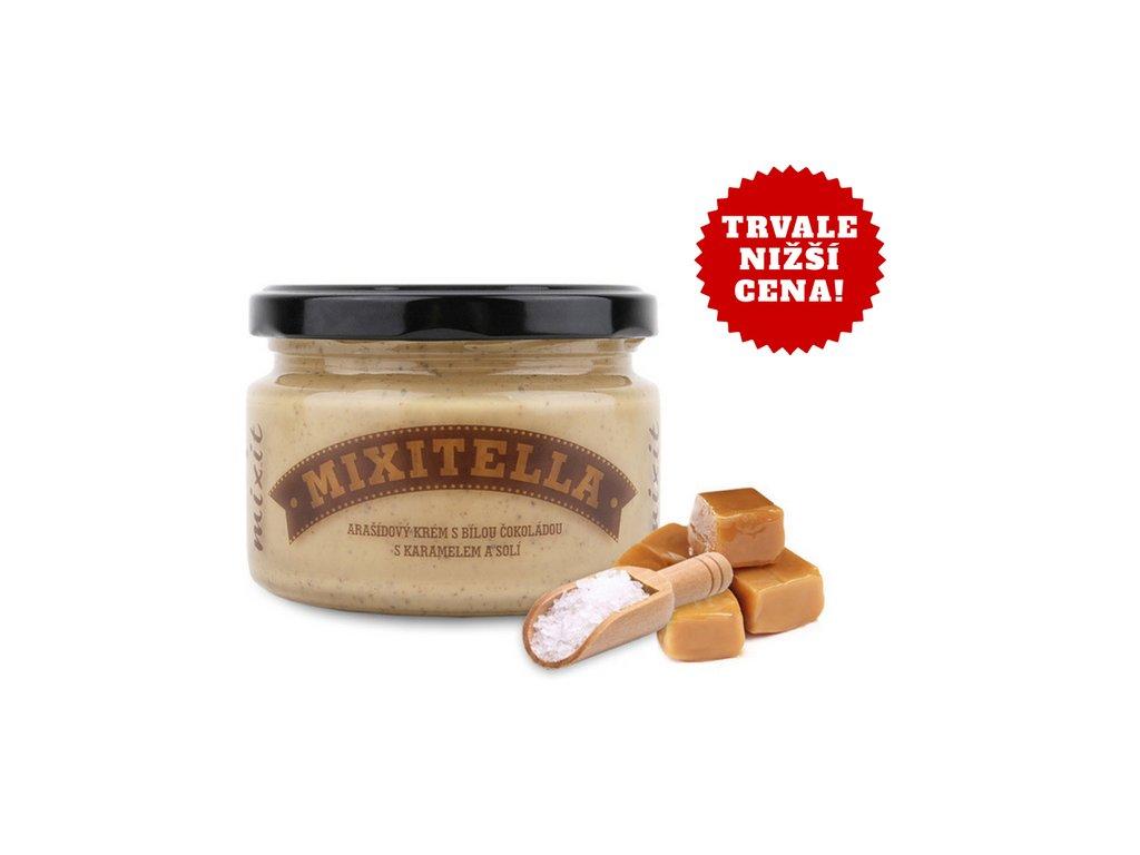 Mixitella slaný karamel arašídová pomazánka se slaným karamelem 250g Mixit