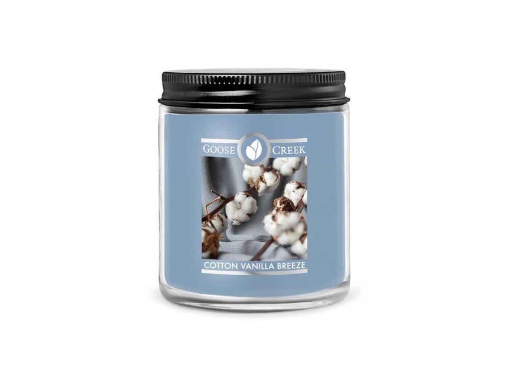Svíčka Goose Creek Cotton Vanilla Breeze Svěží bavlna s vanilkou 198g malá