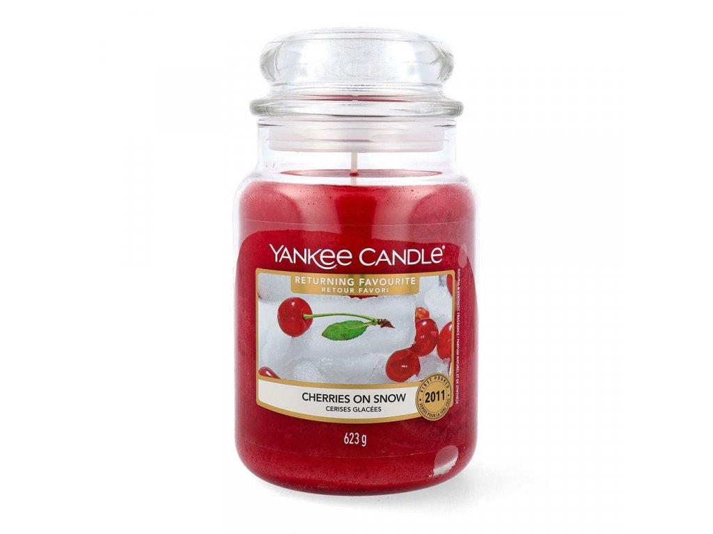 Svíčka Yankee Candle Cherries on Snow Třešně na sněhu 623g velká