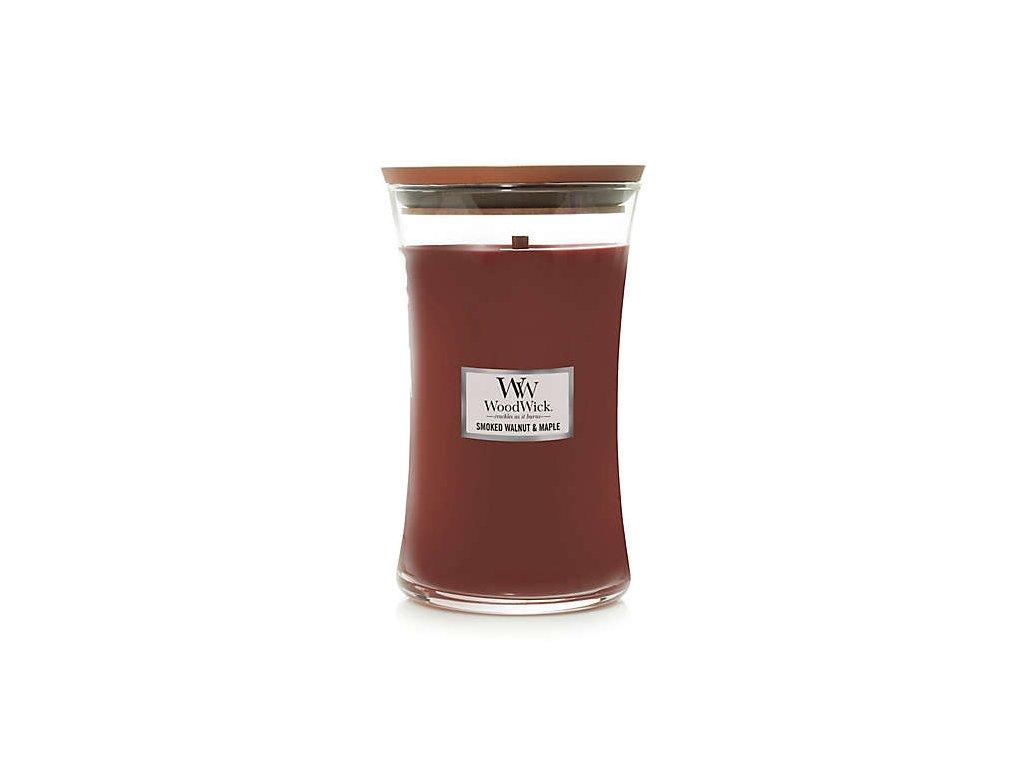 Svíčka WoodWick Smoked Walnut & Maple Pečené vlašské ořechy a javor 609,5g velká1
