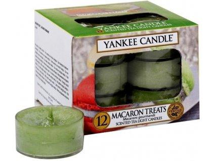 Čajové Svíčky Yankee Macaron Treats Makronky 12 ks