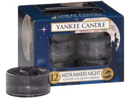 Čajové Svíčky Yankee Midsummers Night Noční Svit 12 ks