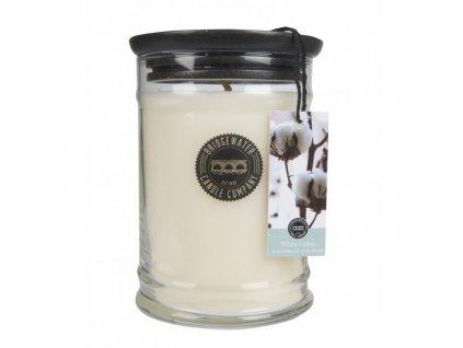 Svíčka Bridgewater Candle Company -  White Cotton - Čisté prádlo 524 g velká