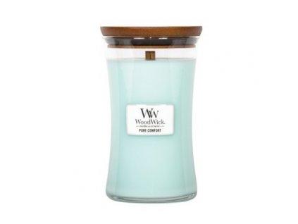 Svíčka WoodWick Pure Comfort Čistota a Pohodlí 609,5g velká
