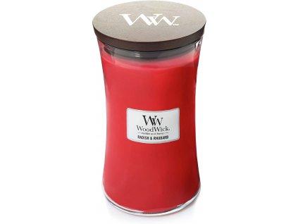 Svíčka WoodWick Radish Rhubarb Ředkev a Rebarbora 609,5g velká
