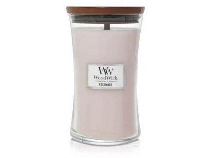 Svíčka WoodWick RoseWood - Palisandr 609,5g velká