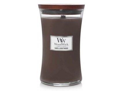 Svíčka WoodWick Sand & Driftwood - Písek a Naplavené Dřevo 609,5g velká