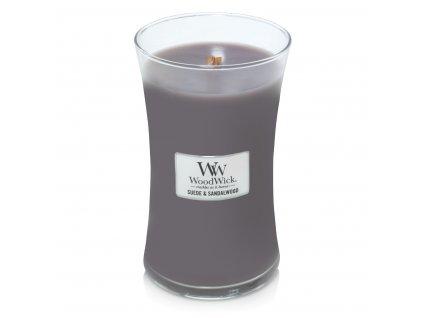 Svíčka WoodWick Sueded Sandalwood Santalové dřevo 609,5g velká