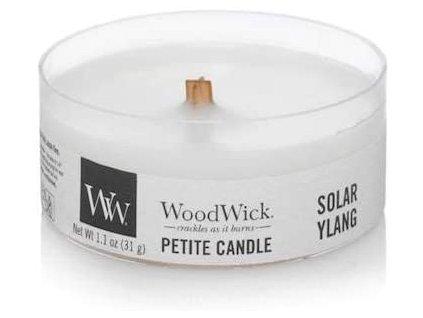 Svíčka WoodWick Solar Ylang - Sluneční Ylang 31g petite