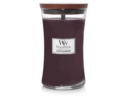 Svíčka WoodWick Spiced Blackberry Pikantní Ostružina 609,5g velká