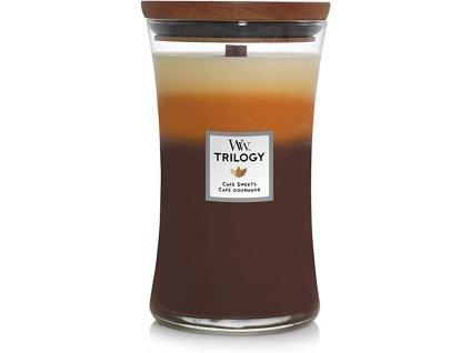 Svíčka WoodWick Trilogy Cafe Sweets Dezert v Kavárně 609,5g velká