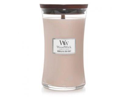 Svíčka WoodWick Vanilla Sea Salt Vanilka a Mořská Sůl 609,5g velká