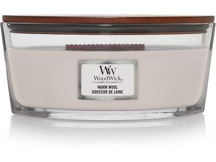 Svíčka WoodWick Warm Wool Hřejivá Vlna 453,6g lodička