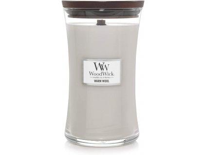 Svíčka WoodWick Warm Wool Hřejivá Vlna 609,5g velká