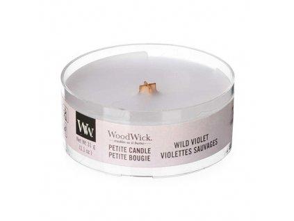 Svíčka WoodWick Wild Violet Divoká Fialka 31g petite