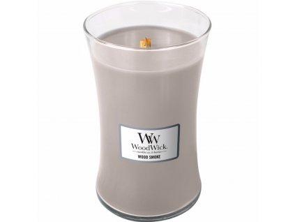 Svíčka WoodWick Wood Smoke Kouř z Cedrového Dřeva 609,5g velká