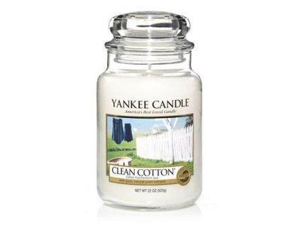 Svíčka Yankee Candle Clean Cotton Čisté Prádlo 623g velká