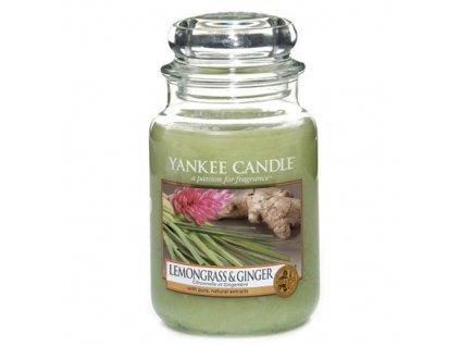 Svíčka Yankee Candle Lemongrass and Ginger Citrónová Tráva a Zázvor 623g velká