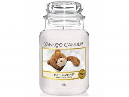 Svíčka Yankee Candle Soft Blanket Jemná Přikrývka 623g velká