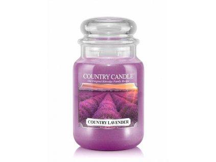 Svíčka Country Candle Lavender - Levandule 652g velká