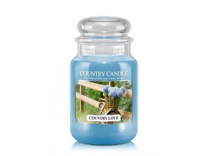 Svíčka Country Candle Country Love - Venkovksá láska 652g velká