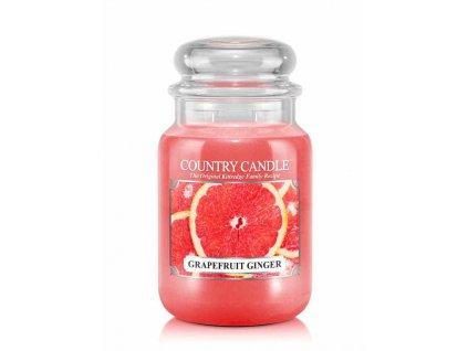 Svíčka Country Candle Grapefruit Ginger - Grep a Zázvor 652g velká