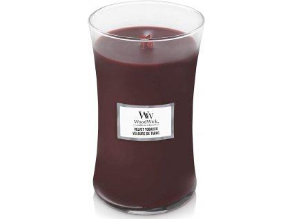Svíčka WoodWick Velvet Tobacco Sametový Tabák 609,5g velká