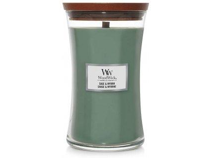 Svíčka WoodWick Sage & Myrrh - Šalvěj a Myrta 609,5g velká