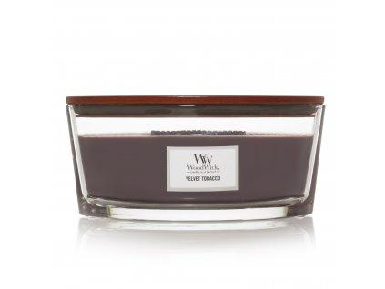 Svíčka WoodWick Velvet Tobacco - Sametový Tabák 453,6g lodička