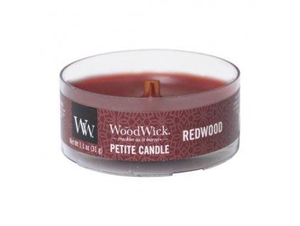 Svíčka WoodWick Redwood Santalové Dřevo 31g petite