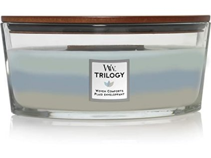 Svíčka WoodWick Woven Comfort Hřejivé Pohodlí 453,6g lodička