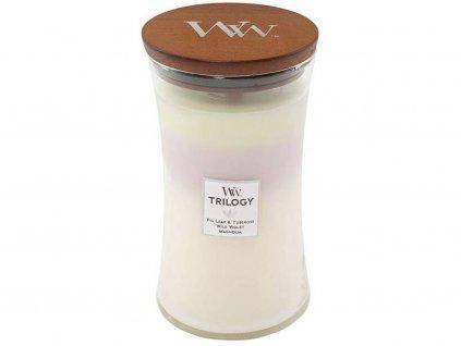 Svíčka WoodWick Trilogy Terrace Blossom Květinová Terasa 609,5g velká