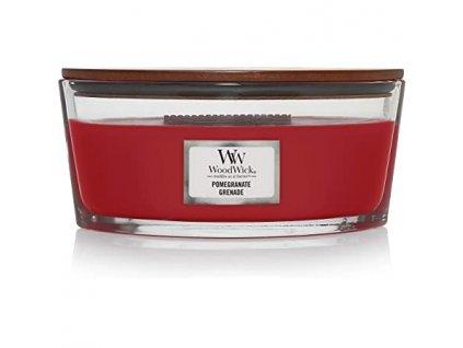 Svíčka WoodWick Pomegranate - Granátové Jablko 453,6g lodička