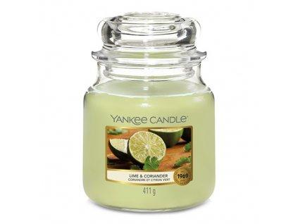 Svíčka Yankee Candle Lime & Coriander Limetka a Koriandr 411g střední