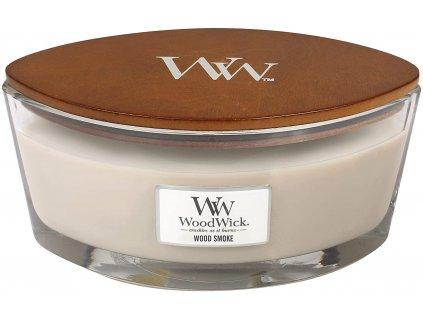 Svíčka WoodWick Wood Smoke - Kouř z Cedrového Dřeva 453,6g lodička