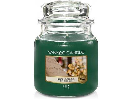 Svíčka Yankee Candle Singing Carols Zpívání Koled 411g střední