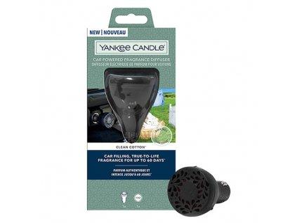 Yankee Candle Car Powered Difusser Clean Cotton Čisté Prádlo Elektrický Difuzér do Auta