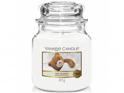 Svíčka Yankee Candle Soft Blanket Jemná Přikrývka 411g střední