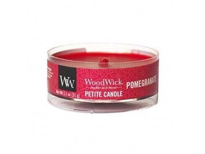 Svíčka WoodWick Pomegranate Granátové Jablko 31g petite