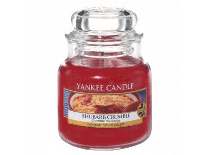 Svíčka Yankee Candle Rhubarb Crumble Rebarborový Koláč 104g malá