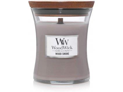 Svíčka WoodWick Wood Smoke Kouř z Cedrového Dřeva 85g malá