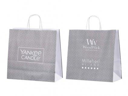 Papírová taška s krouceným uchem Yankee Candle | WoodWick střední