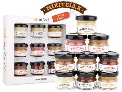Degustační sada Mixitella sada 9 čokoládových pomazánek 225g Mixit