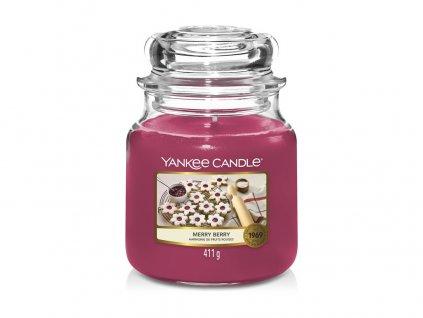 Svíčka Yankee Candle Merry Berry Linecké cukroví 411g střední