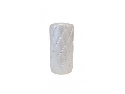 Svíčka Florencie bílá střední 14x7cm