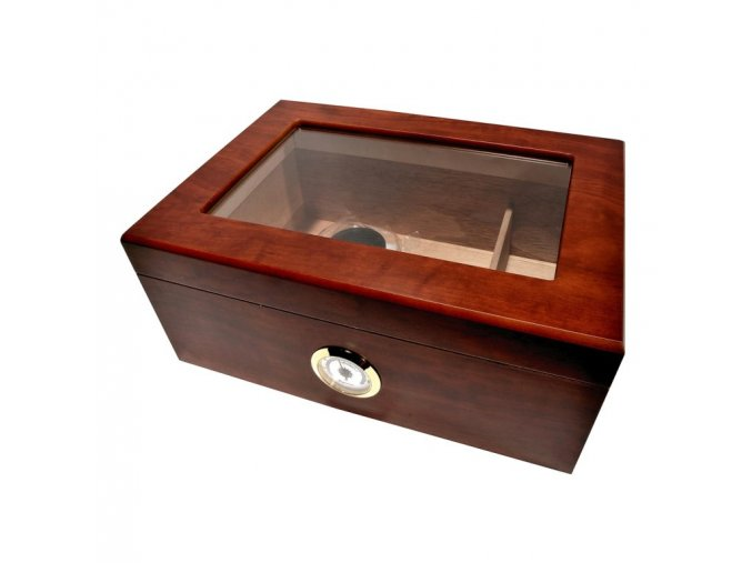 1845 humidor 50d brown glass