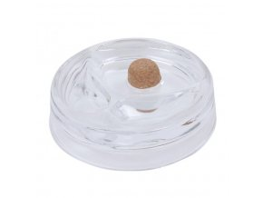 Dýmkový popelník skleněný čirý